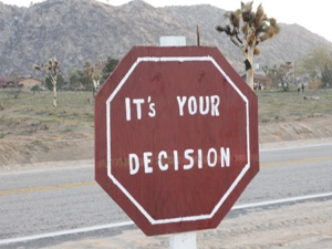 decision sign - how to start a blog