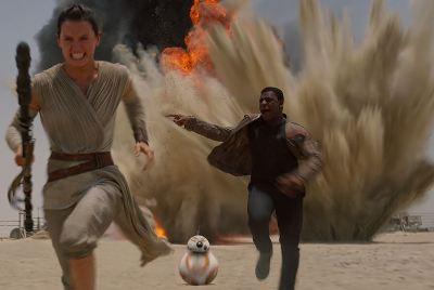Star Wars Episode VII: The Force Awakens Jakku attack scene - J.J. Abrams - pacing criticism