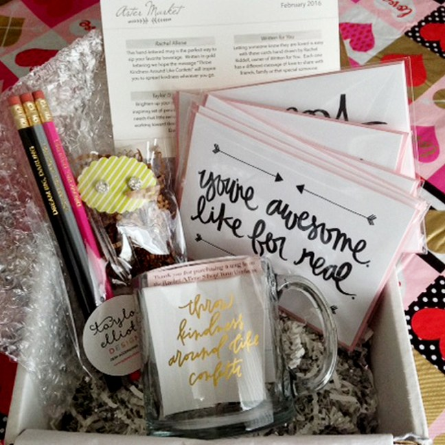 aster_market_february_box_2016_mug_pencils_earrings_cards_handmade_subscription_box