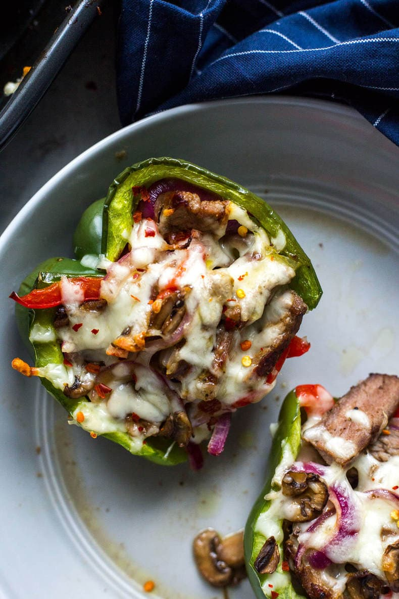 Large Of Cheesesteak Stuffed Peppers