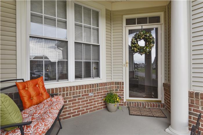 Candace Moe, REALTOR, Lists 6580 EVERBREEZE LANE, GAINESVILLE, VA, Home For Sale in Heritage Hunt, Premier 55+ / Active Adult Community -Front Elevation_Exterior-Front Porch
