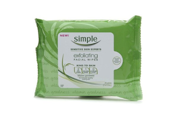 simple exfoliating wipes