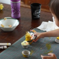 Spring Crafts: Egg Carton Bunnies and Chicks