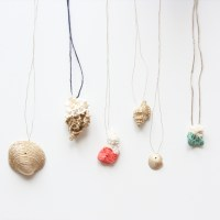 Jewelry DIY with Paint Dipped Coral and Gold Shells