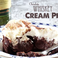 Recipe : Chocolate Whiskey Cream Pie