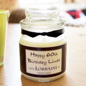 Luxury personalised candle