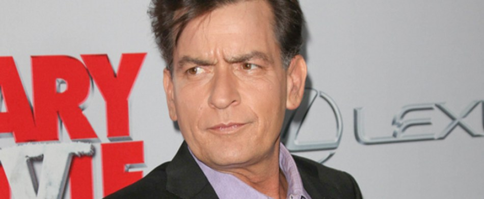 charlie sheen tweets knife photo