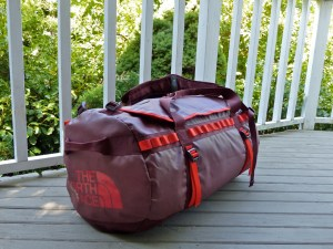 Two North Face duffels
