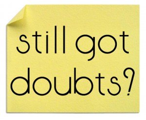 goal achievement - how to give up doubt!