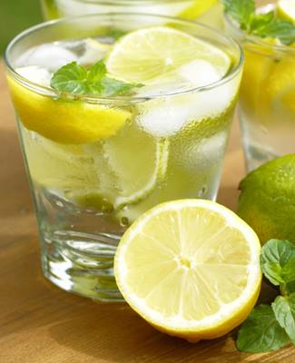 lemon water - traditional Greek digestive aid