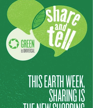 NBC green is universal share and tell earth week campaign
