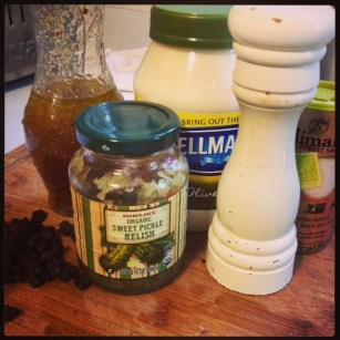 Fixins for GD Meg's Tempeh Salad