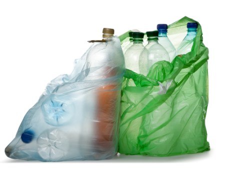plastic bottles and bags