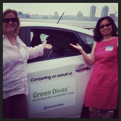 Green Diva Meg & Eco Karen w/ Toyota Prius