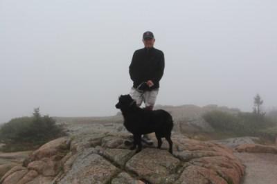 Wayne & Gracie at the summit of Cadillac Mountain