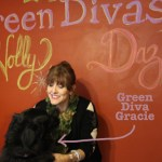 green diva gracie and green diva mizar on the holiday chalk wall