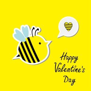 green divas bee valentine image