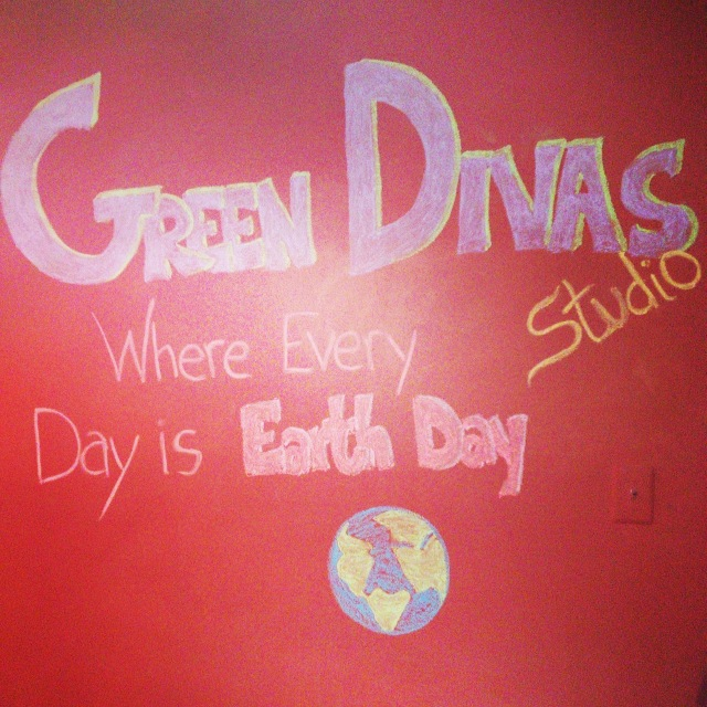 Green Divas Earth Day 2014 studio image