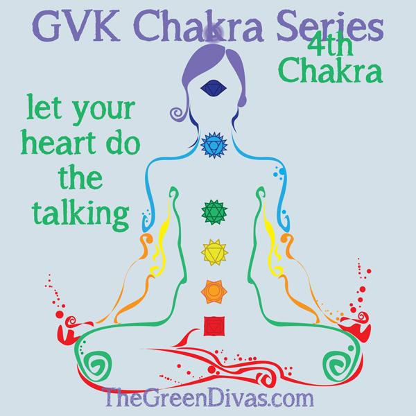 GVK chakra series on Green Divas - 4th chakra meditation girl image