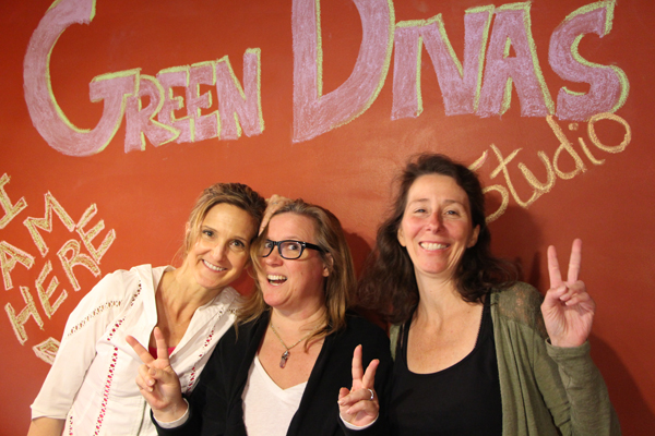 green divas with stefanie spear of ecowatch at green diva studio