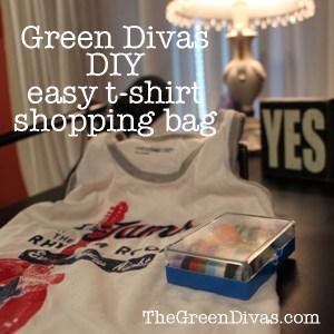 green divas DIY: t-shirt bag image