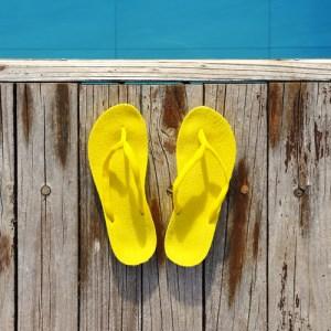 green your pool flip flops