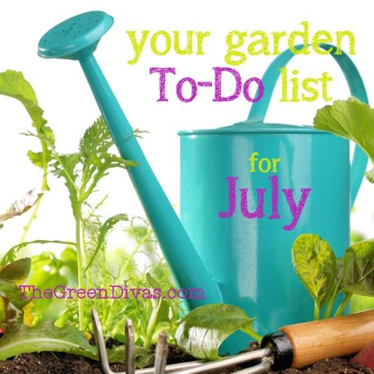 July gardening to-do list