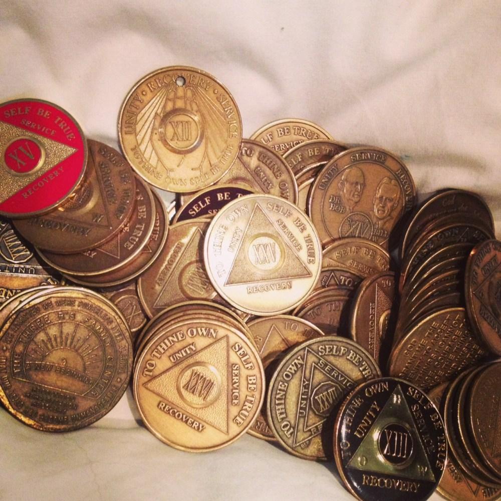 AA coins - green divas