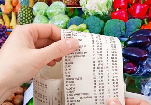 fruit veggies receipt