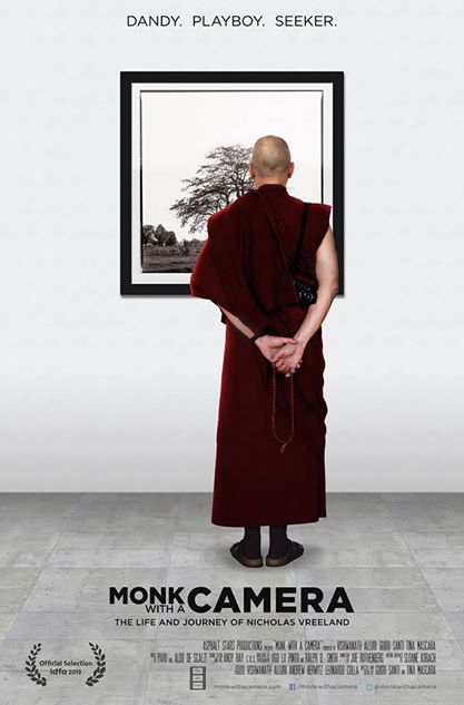 monk with a camera cover