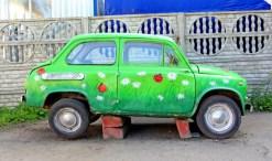 eco-friendly green car