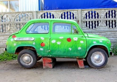 eco-friendly green car