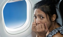 woman scared about pesticides on planes
