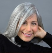 ronnie citron-fink with natural, silver hair color