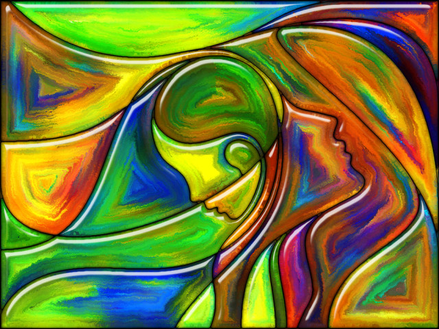 intuition, woman abstract art
