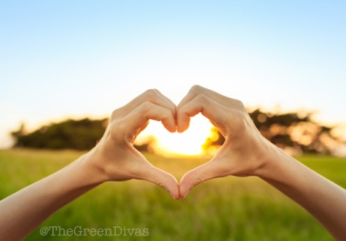heart hands for valentine's day on the green divas