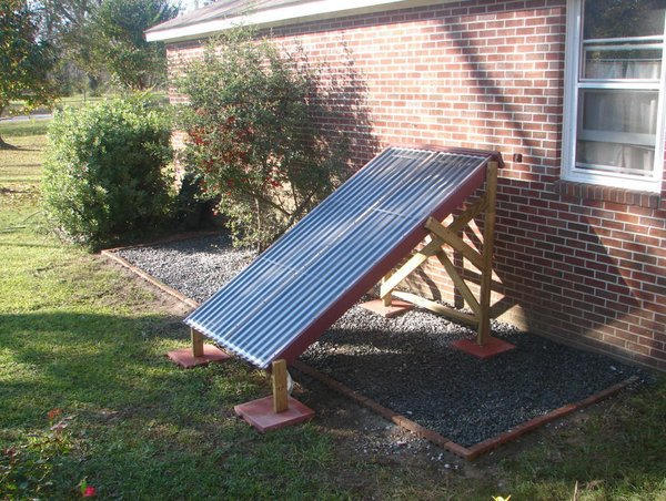 Thermosiphoning Passive Solar Water Heater