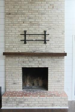 Small Of Whitewash Brick Fireplace