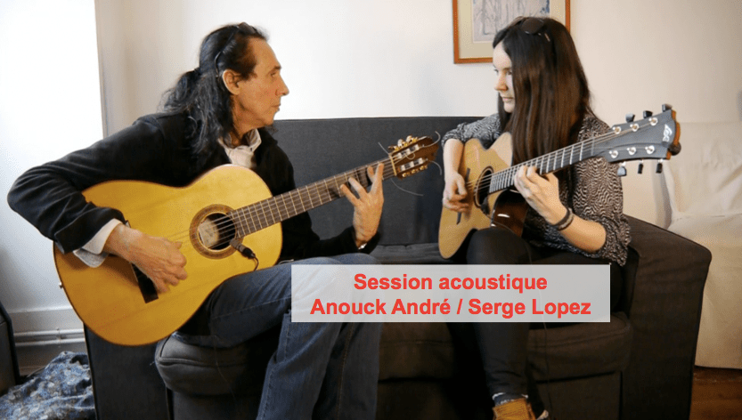 Acoustic session with Serge Lopez and Anouck André: a great guitar duo