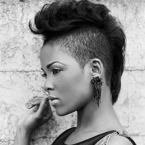 Black Mohawk with Shaved Sides