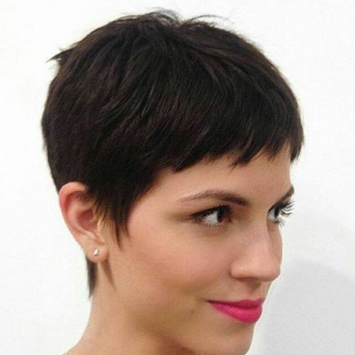 black short cute hair
