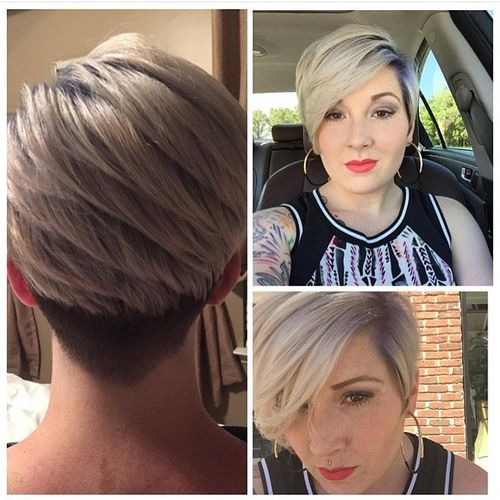 White Bob with Shaved Nape and Black Roots