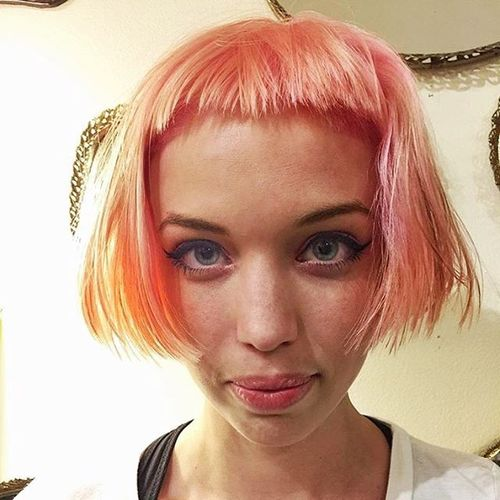 Orange Bob with Pink Tips
