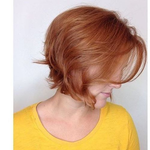 brown-red cascade bob