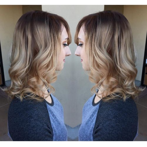 Beautiful blond ombre