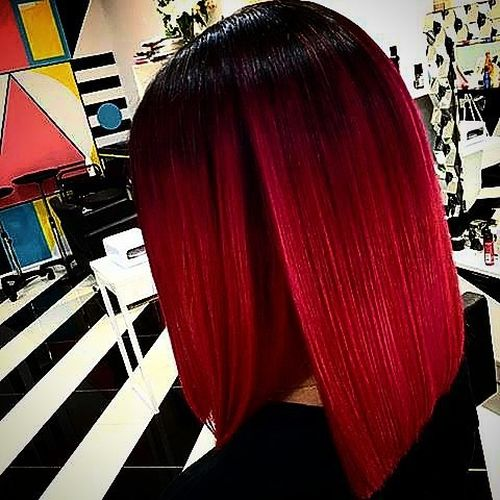 Creative red ombre