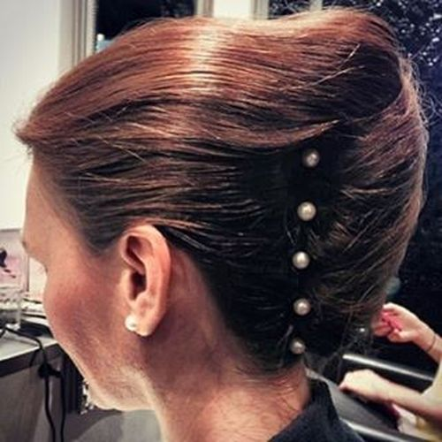 Brown seashell updo hairstyle
