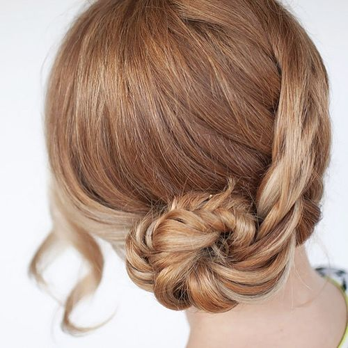 Hairstyle with twist braid