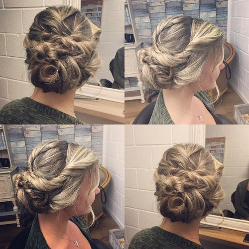 Ravishing hairstyle with twist braid
