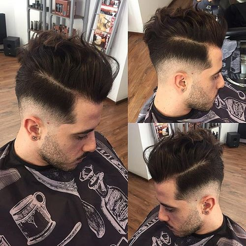 Pompadour with Messy Tips